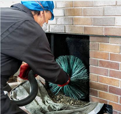 Ramonage de cheminée avec hérisson