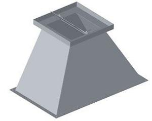 Ceci est un avaloir droit avec trappe pour boisseau, de forme tronconique