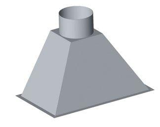 Ceci est un avaloir droit avec trappe pour boisseau, de forme tronconique, avec sortie ronde