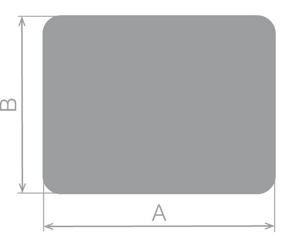 plaque sol angles arrondis acier fumisterie. Black Bedroom Furniture Sets. Home Design Ideas