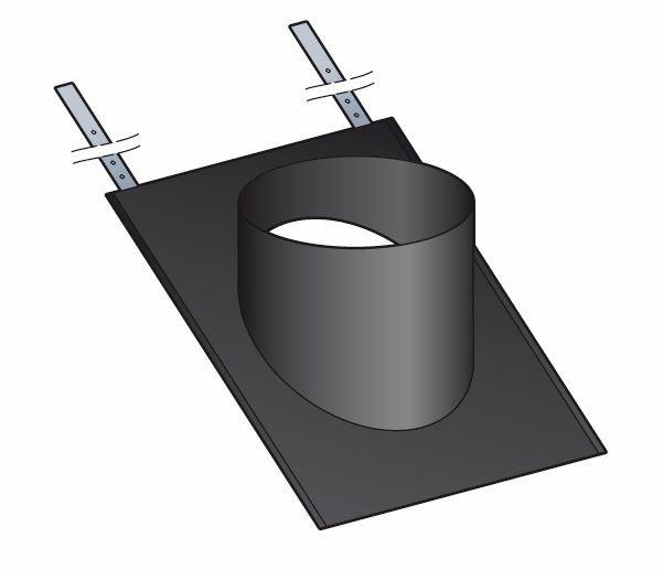 embase d 39 tanch it ardoise poujoulat pour sortie de toit therminox fumisterie. Black Bedroom Furniture Sets. Home Design Ideas